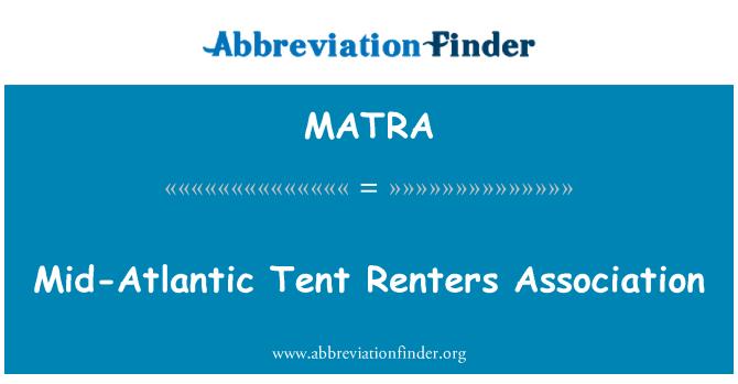 MATRA: Kesk-Atlandi telk üürnikud Assotsiatsiooni