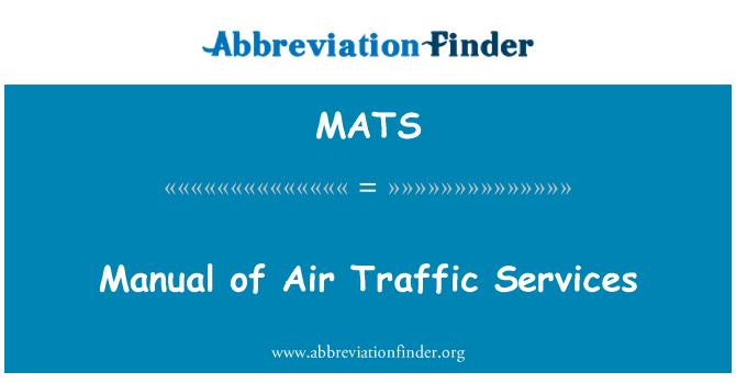 MATS: Manual de servicios de tránsito aéreo