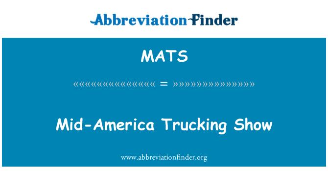 MATS: Mid-America Trucking Show
