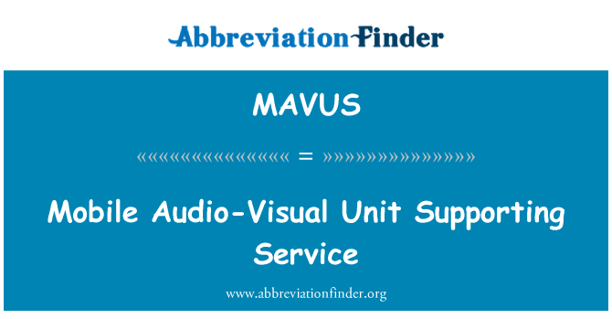 MAVUS: Mobile Audio-Visual Unit Supporting Service