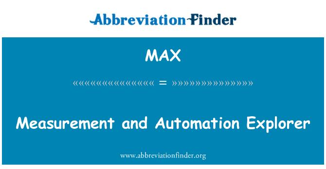 MAX: Measurement and Automation Explorer