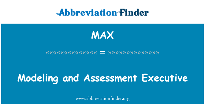 MAX: Modeling and Assessment Executive