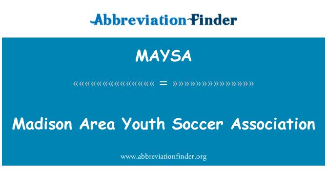 MAYSA: Madison Area Youth Soccer Association