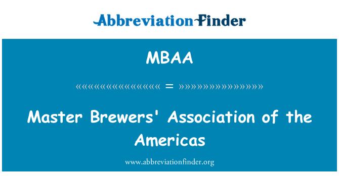 MBAA: Master Brewers' Hiệp hội của châu Mỹ