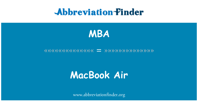 MBA: MacBook Air