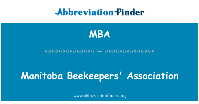 MBA: Manitoba Beekeepers' Association