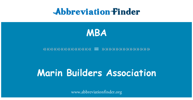 MBA: Marin Builders Association