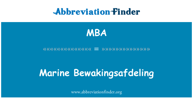 MBA: Marine Bewakingsafdeling