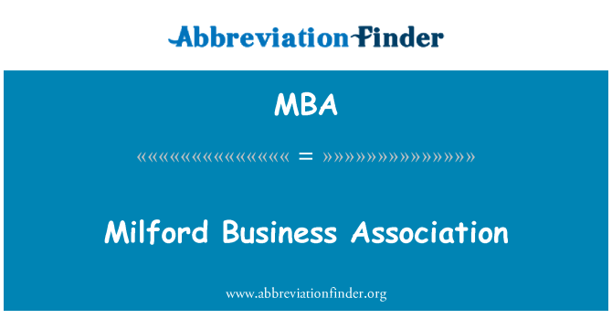 MBA: Milford Business Association