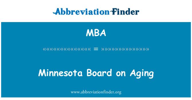 MBA: Minnesota Board on Aging