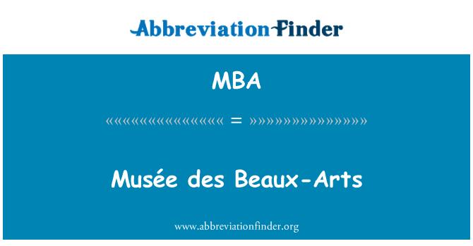 MBA: Musée des Beaux-Arts