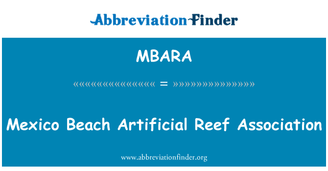 MBARA: Mexico Beach Artificial Reef Association