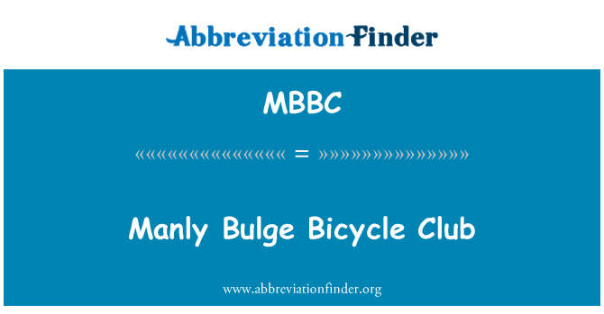 MBBC: Manly Bulge Bicycle Club
