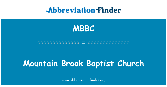 MBBC: Mountain Brook Baptist Church