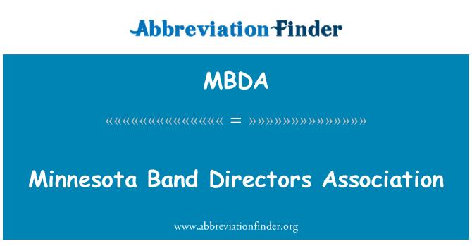 MBDA: Asociación de directores de banda de Minnesota