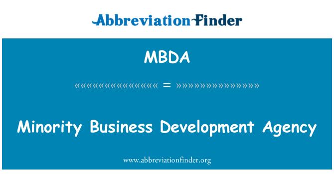 MBDA: สำนักงานพัฒนาธุรกิจของชนกลุ่มน้อย