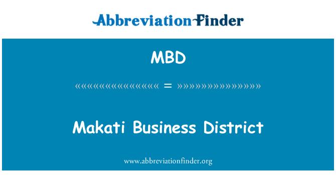 MBD: Makati Business District
