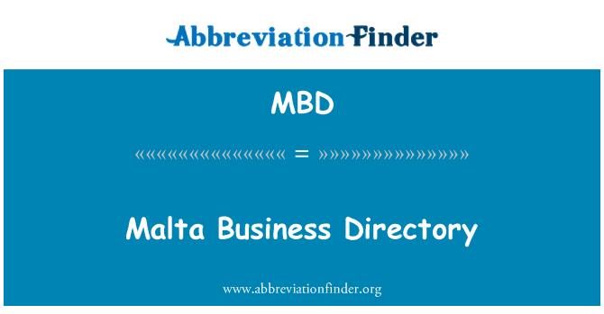 MBD: Malta Business Directory