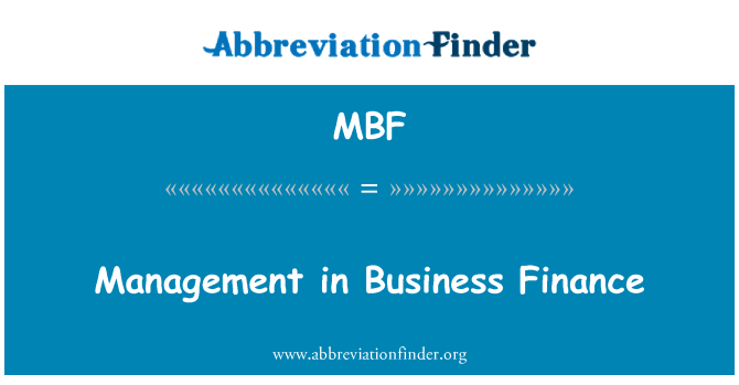 MBF: Management in Business Finance