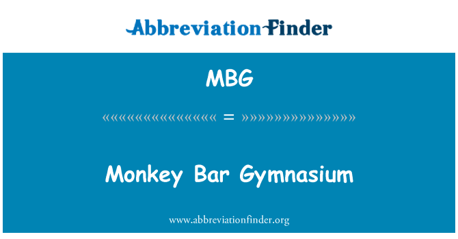 MBG: Monkey Bar Gymnasium