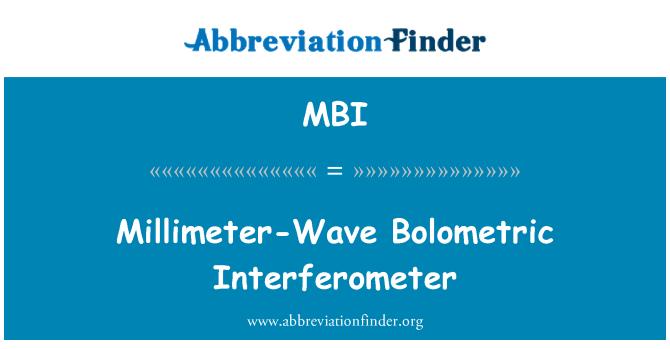 MBI: Millimeter-Wave Bolometric Interferometer