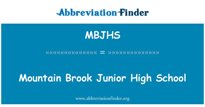 MBJHS: Mountain Brook Junior High School