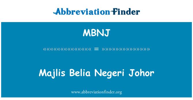 MBNJ: Majlis Belia Negeri Johor