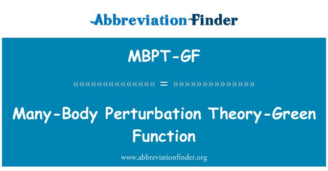 MBPT-GF: Many-Body Perturbation Theory-Green Function