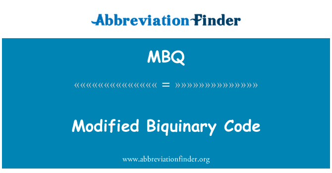 MBQ: Modified Biquinary Code