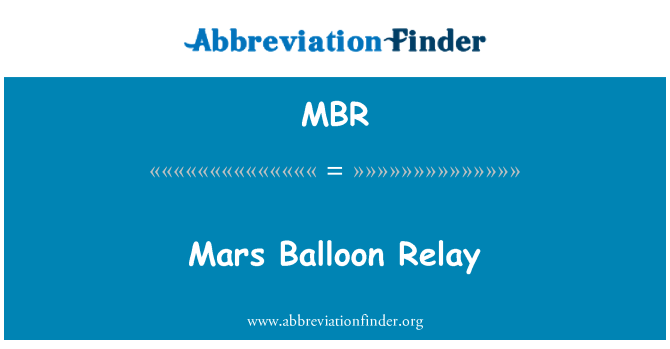 MBR: Mars Balloon Relay