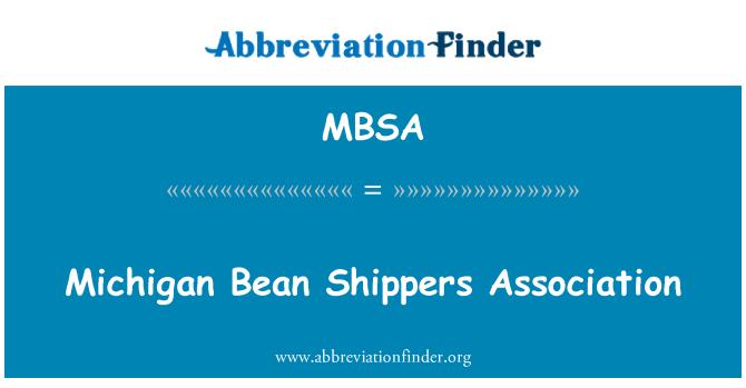MBSA: Michigan Bean Shippers Association