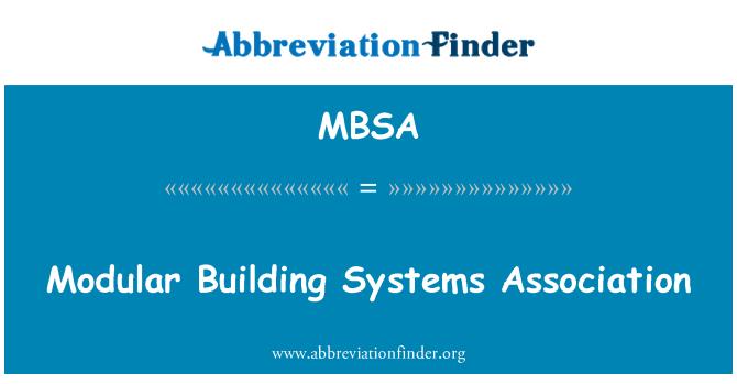 MBSA: Modular Building Systems Association