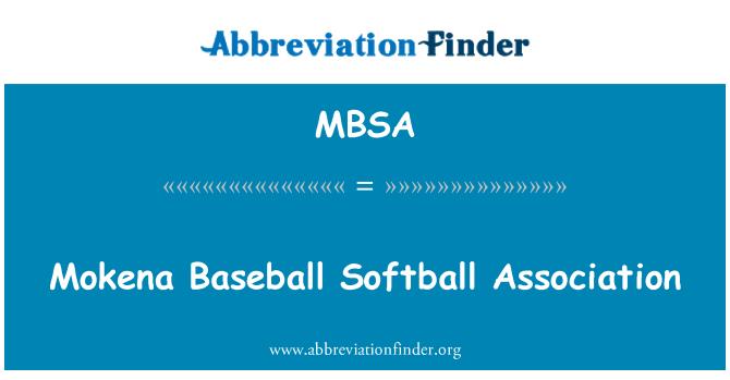 MBSA: Mokena Baseball Softball Association