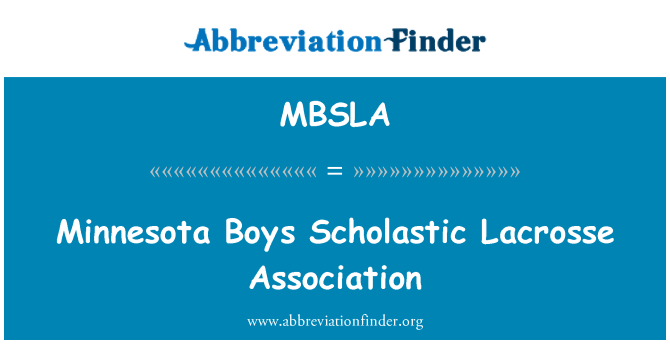 MBSLA: Minnesota momci skolastičke Lacrosse udruga