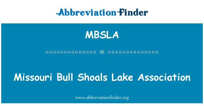 MBSLA: Missouri Bull plićaci jezero udruga