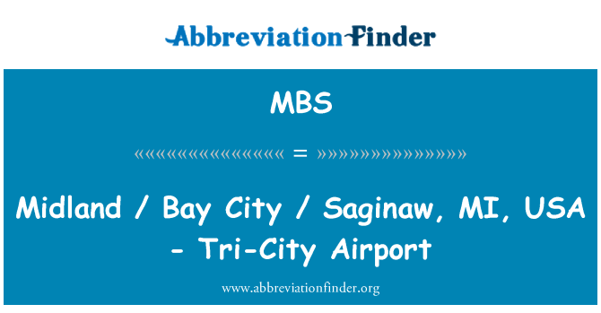 MBS: Midland / Bay City / Saginaw, MI, USA - Tri-City Airport
