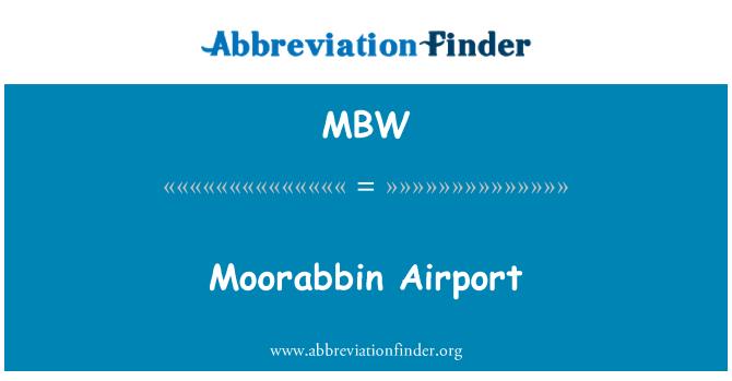 MBW: Moorabbin Airport