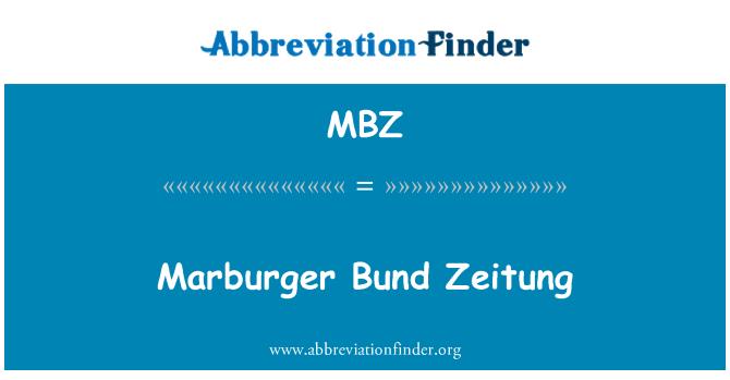 MBZ: Marburger Bund Zeitung