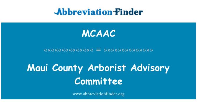 MCAAC: Maui County Arborist Advisory Committee