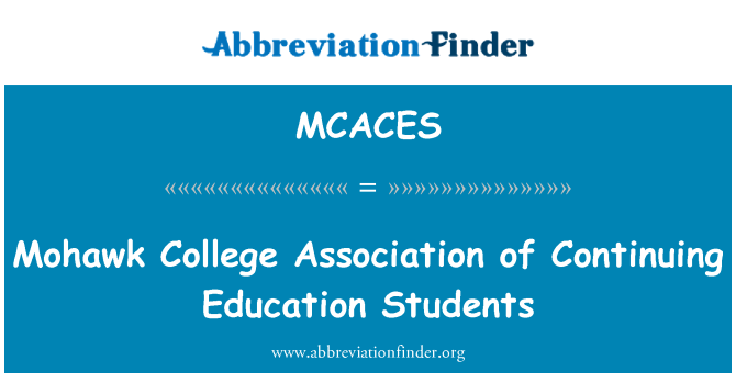 MCACES: Mohawk College Association of Continuing Education Students