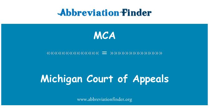 MCA: Michigan Court of Appeals