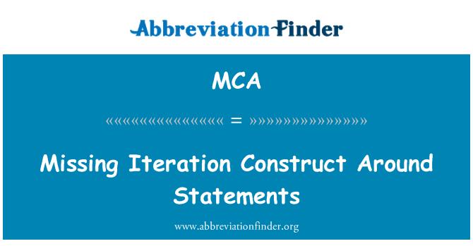 MCA: Missing Iteration Construct Around Statements