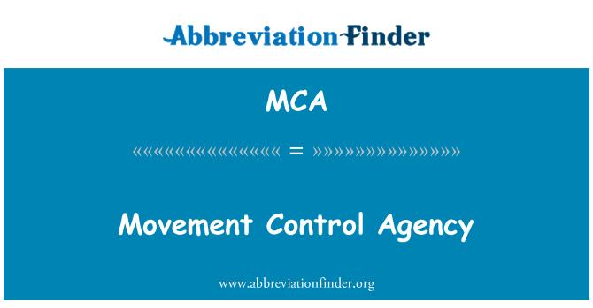 MCA: Movement Control Agency