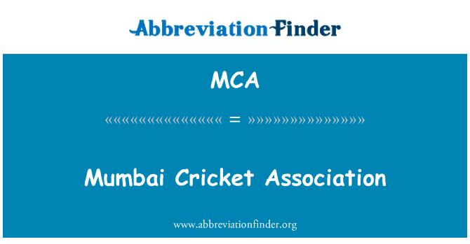 MCA: Mumbai Cricket Association