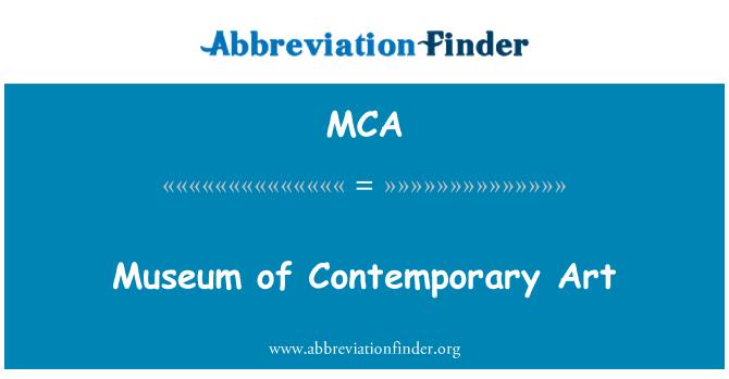 MCA: Museum of Contemporary Art