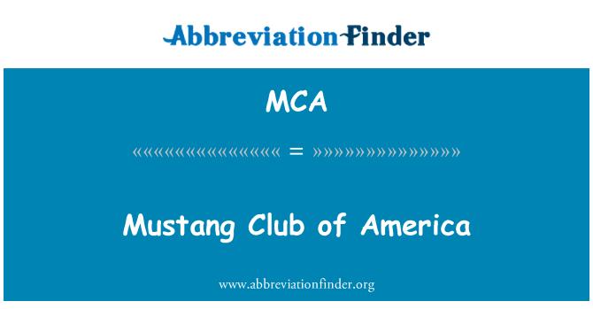 MCA: Mustang Club of America