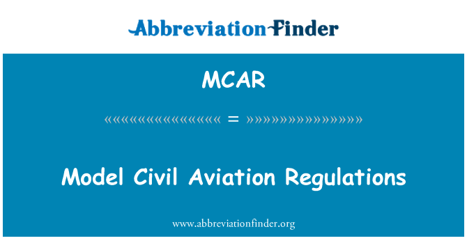 MCAR: Modell Civil Aviation Regulations