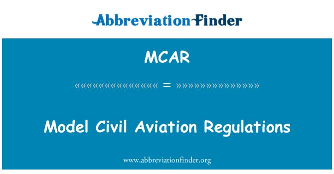 MCAR: Regulaciones de Aviación Civil modelo