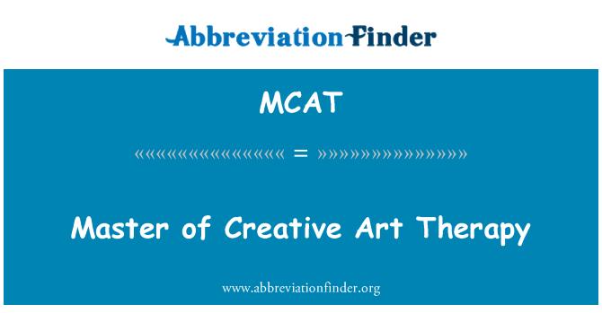 MCAT: 創造性藝術治療碩士學位