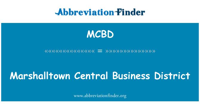 MCBD: Distrito Central de negocios de Marshalltown